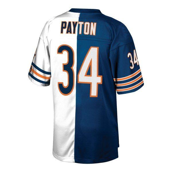 f08f9e5ab Walter Payton Chicago Bears Mitchell   Ness Retired Player Split Replica  Jersey – Navy White