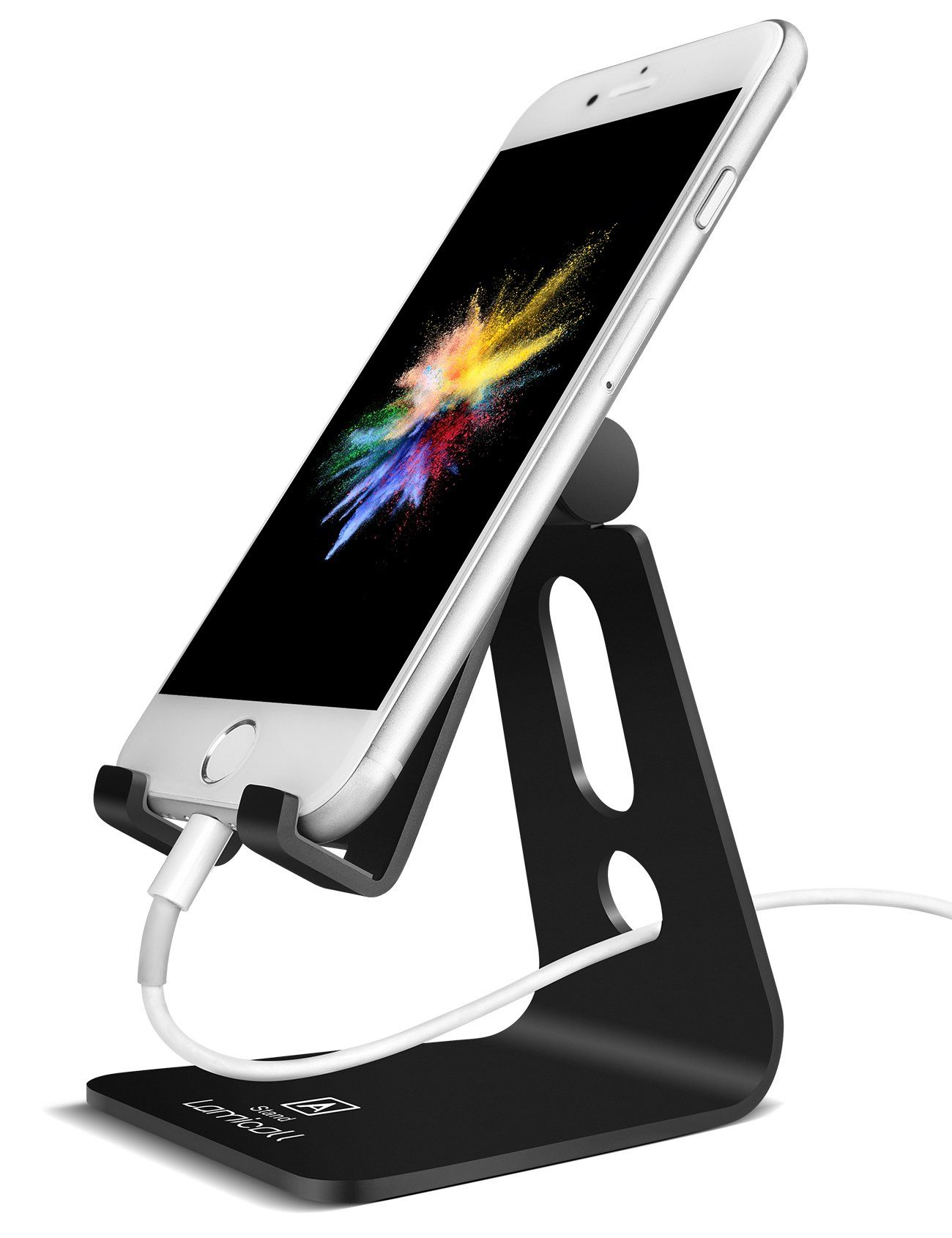 Adjustable Cell Phone Stand Lamicall Iphone Stand Update Version Cradle Dock Holder For Iphone 7 6 Adjustable Phone Stand Cell Phone Stand Iphone Stand