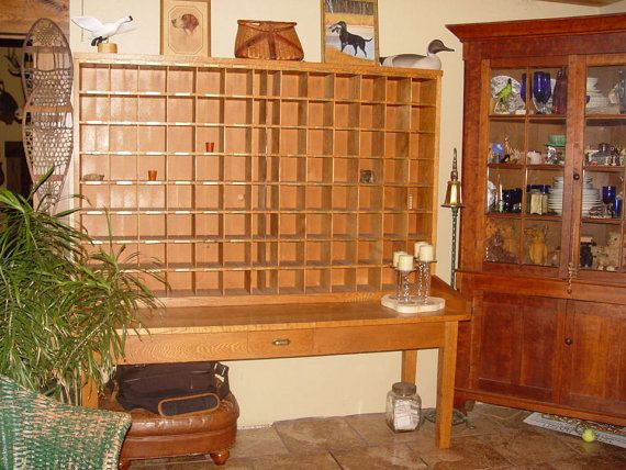 RESERVED...Antique Oak Country Store US Post Office Unit