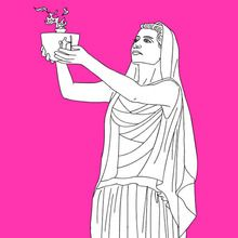 Persephone The Greek Goddess Of Spring Growth Coloring Page