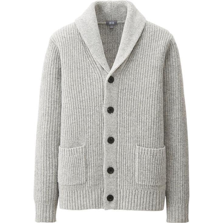 MEN HEAVY GAUGE SHAWL COLLAR CARDIGAN | UNIQLO | streetwear casual ...