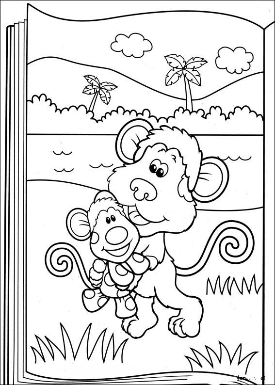 Blue\'s Clues Coloring Pages 42 | coloring pages | Pinterest