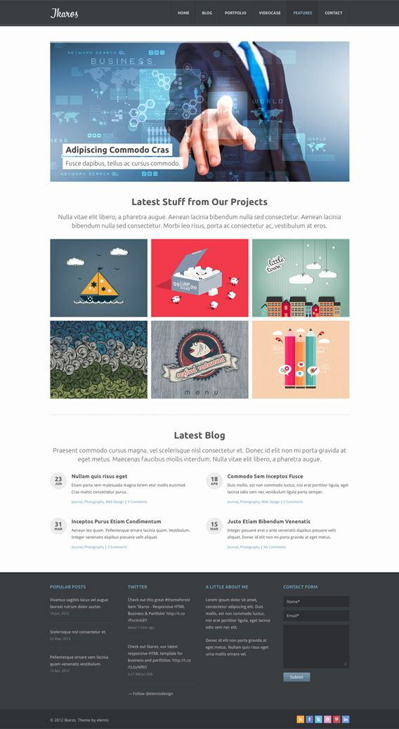 Ikaros Free Home Psd In 2020 Web Design Psd Template Free Psd Templates