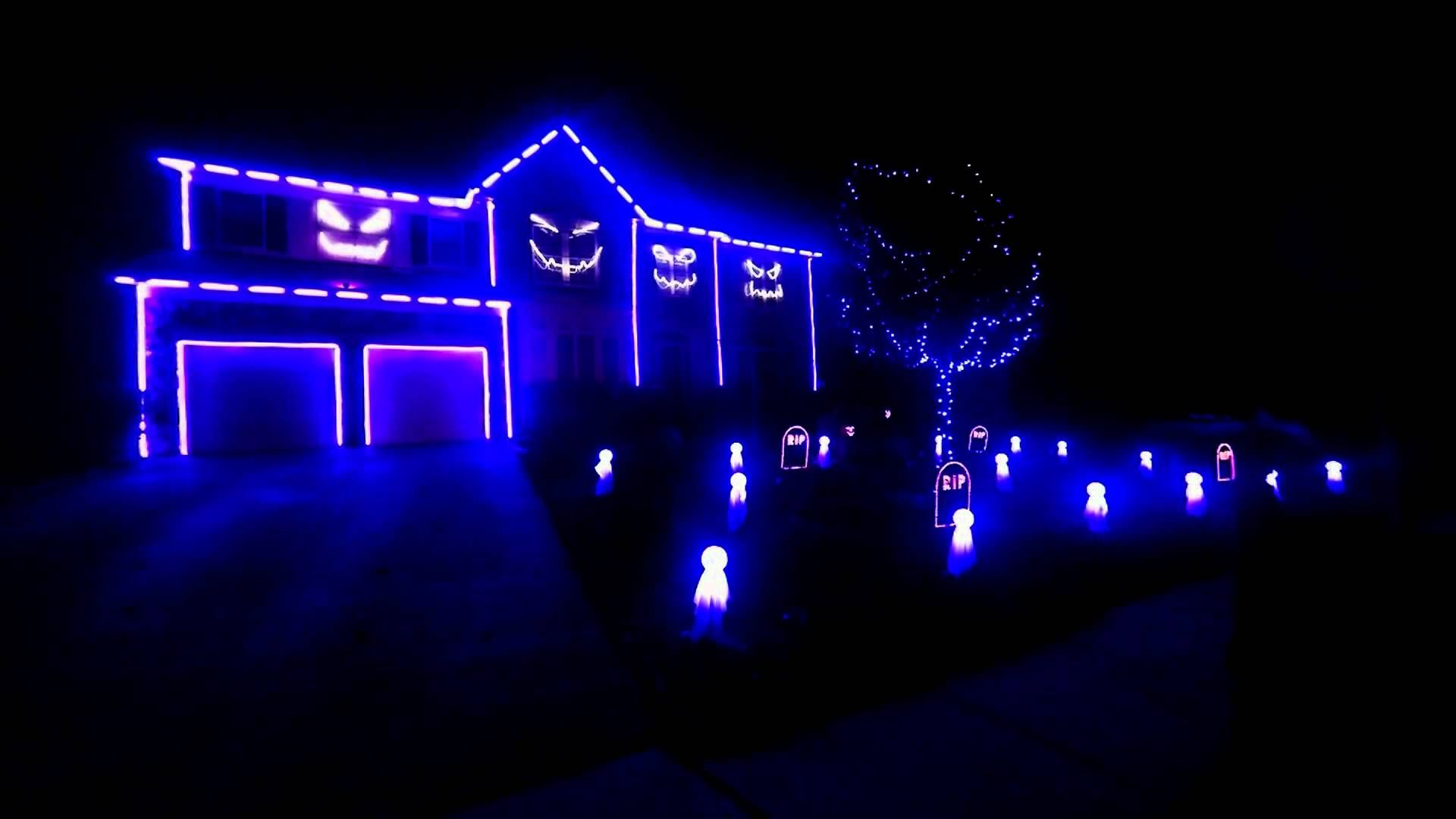 halloween light show 2013 blurred linesedwards landing lights in leesburg