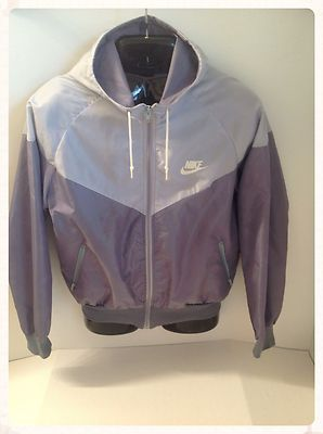 more photos 2e0b6 95ca0 Vintage Nike Windbreaker Large 80S Gray Hooded Breakdance! Very Good!  CLASSIC