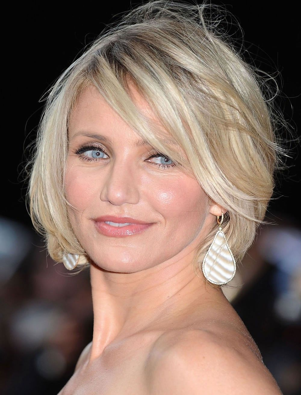 Bob Hairstyles For Older Women Over 40 To 60 Years 2017 2018 Short Hair Styles For Round Faces Hair Lengths Cameron Diaz Hair