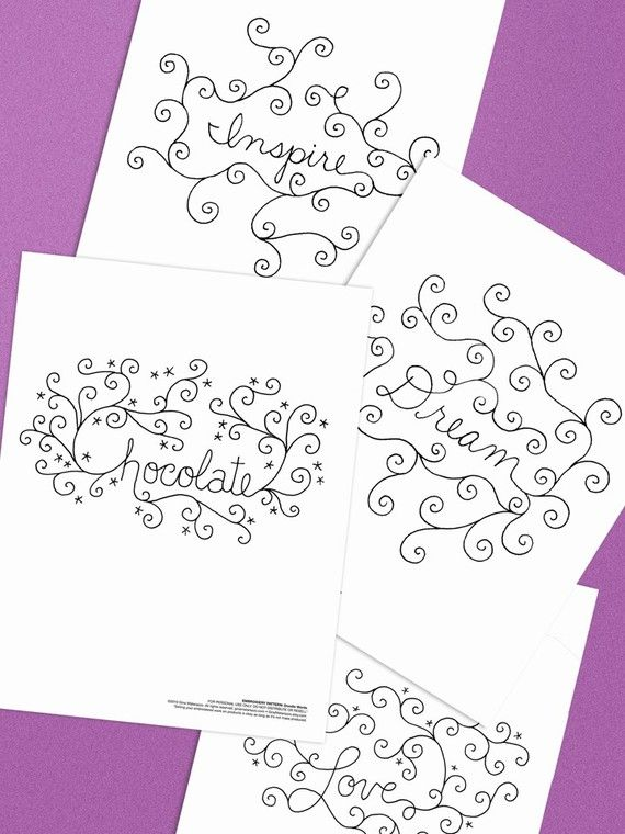 Embroidery Pattern of Word Doodles Love Inspire by GinaMatarazzo ...