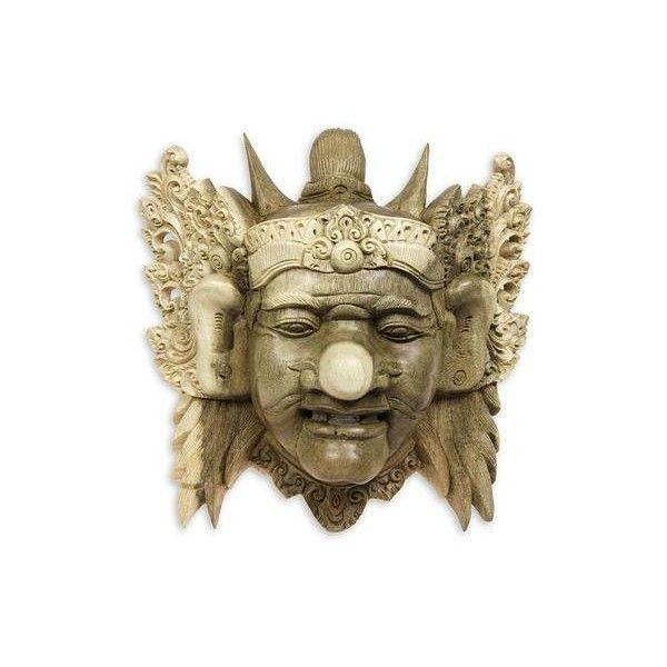 NOVICA Acacia Wood Mask (785 CNY) ❤ liked on Polyvore featuring home, home decor, brown, masks, acacia home decor, novica home decor, novica and novica masks