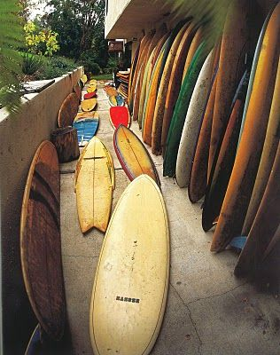 Pathway to wave heaven. Can you imagine having so many boards?