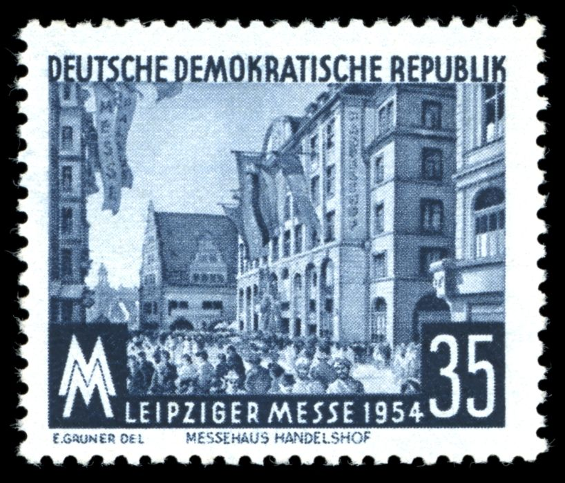 Stamps of Germany (DDR) 1954 Leipziger Messe auf