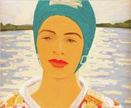 Alex Katz - Ada With Bathing Cap, 1965