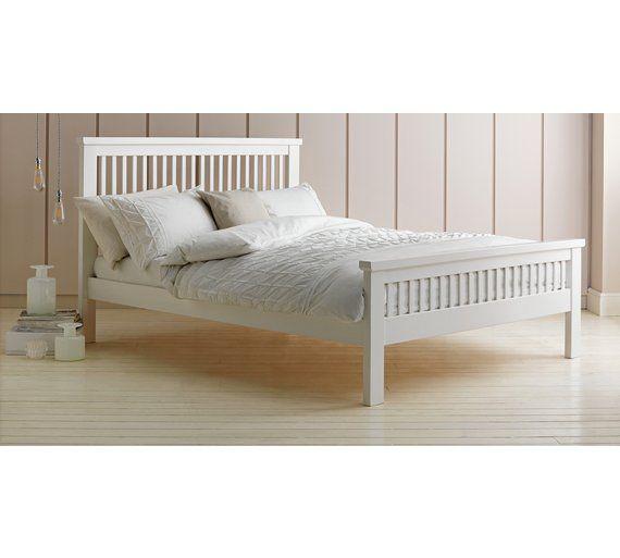 Best Buy Argos Home Aubrey Double Bed Frame White Bed 640 x 480