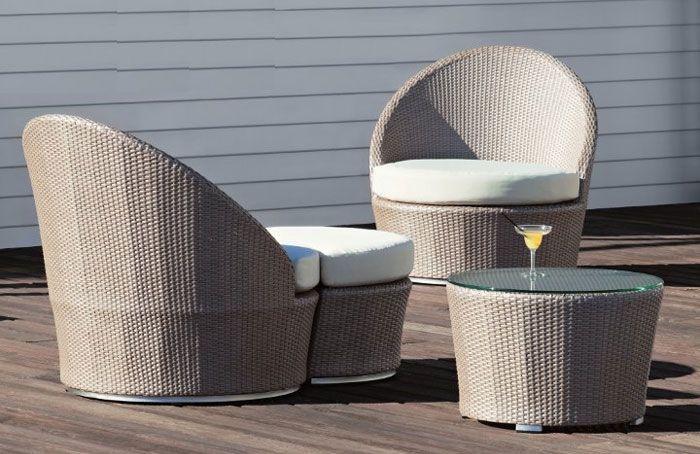 sillón redondo de poliplástico de diseño | Terraza y jardin ...