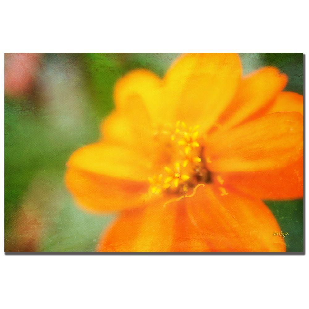 32 in. x 22 in. Golden Zinnia Canvas Art | Zinnias, Canvases and ...