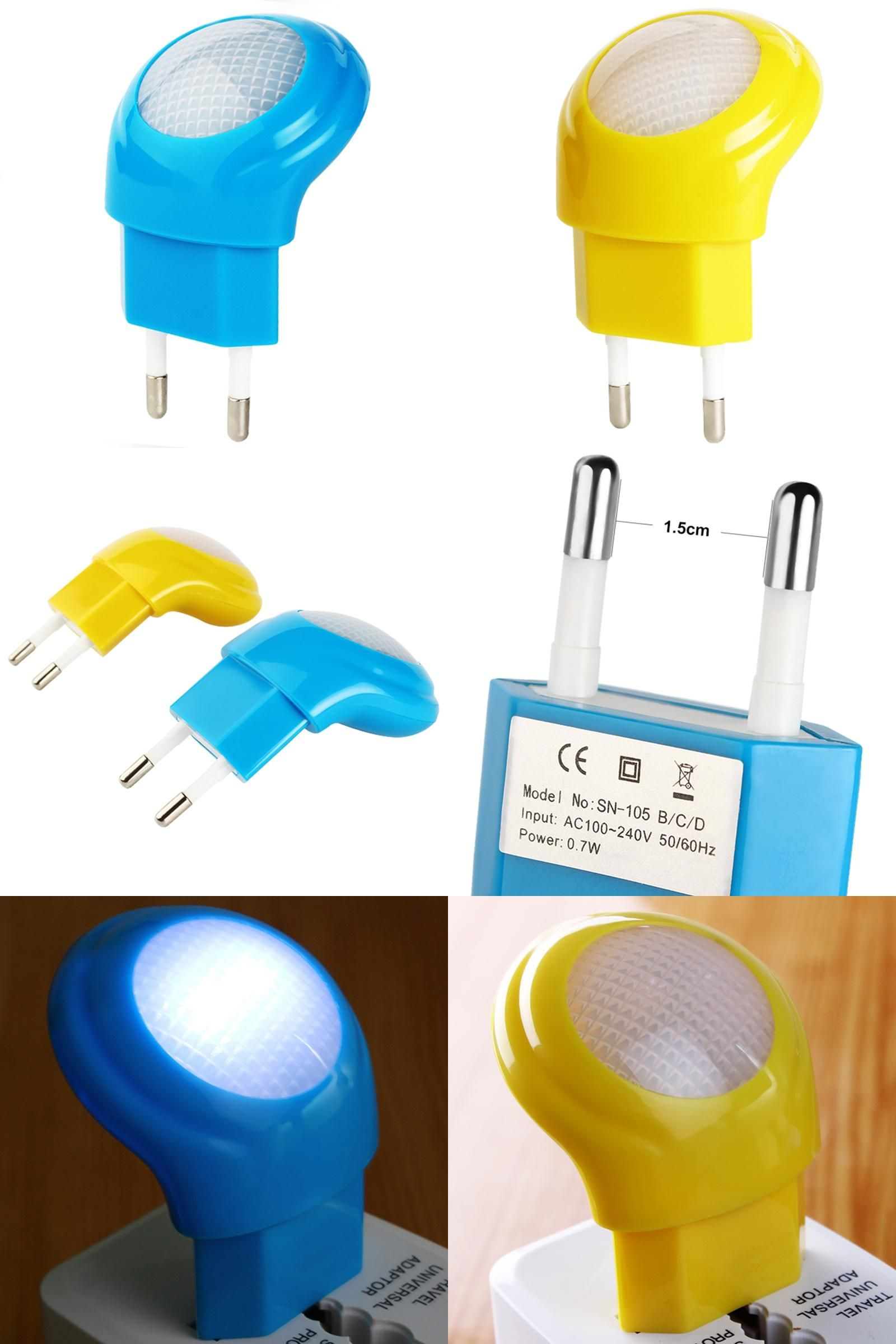 Visit to buy led night lights eu plug w lighting auto sensor
