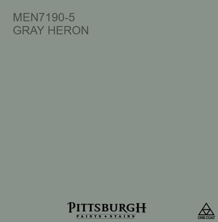 Gray Heron a Green hue from the Pittsburgh Paints and Stains® paint color  palette available at Menards