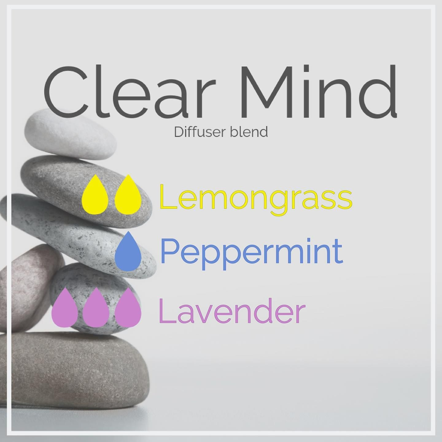 I will be diffusing this all day to help me start the week off clear & focused  😃  #clearmind #recharge #diffuse #essentialoils #clarity #focus