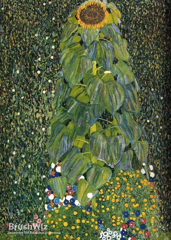Farm Garden Klimt Zeichnungen Sunflowers Tapestry In 2020 Sonnenblumen Zeichnungen Bleistiftzeichnung