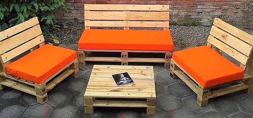 Pallet Patio Furniture Set Outdoor Furniture Sillones