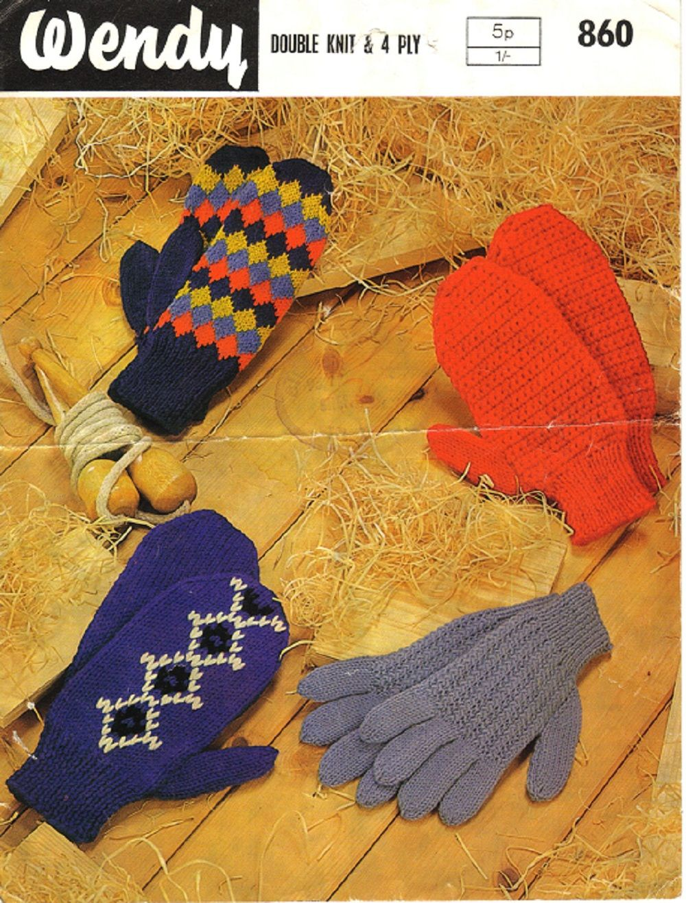 Wendy Knitting & Crochet Pattern 860, Childrens Mitts and Gloves ...