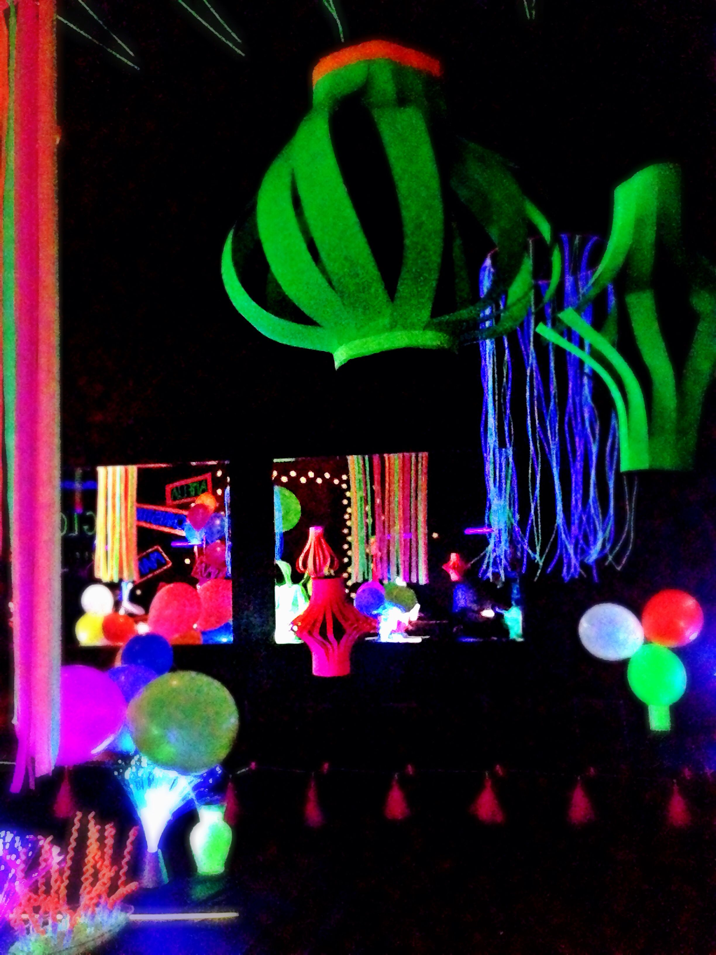 Uncategorized Neon Decorations paper lanterns from neon poster board glow party decorations decor with amazing looks like a pitch dark room make the come alive beautiful colors exci