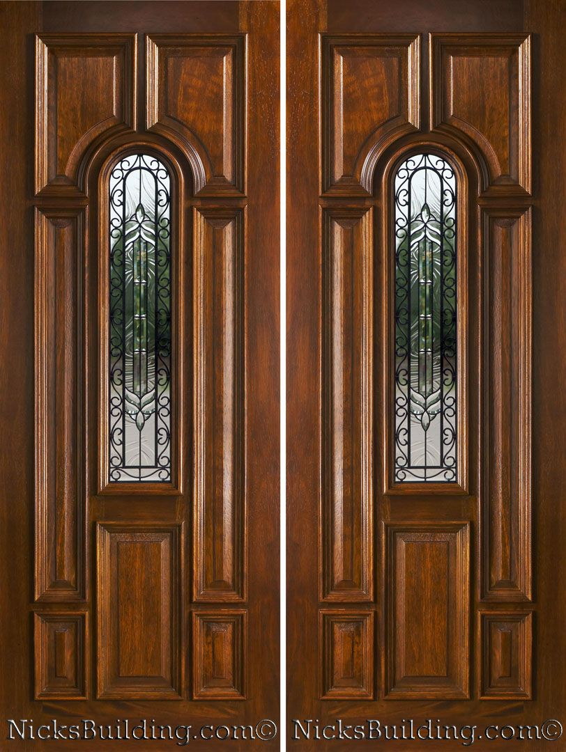 Exterior Double Doors Solid Mahogany Double Doors Double Front Doors with  Side Lights. Image for Elegant Front Entry Doorspuerta   Proyectos que intentar