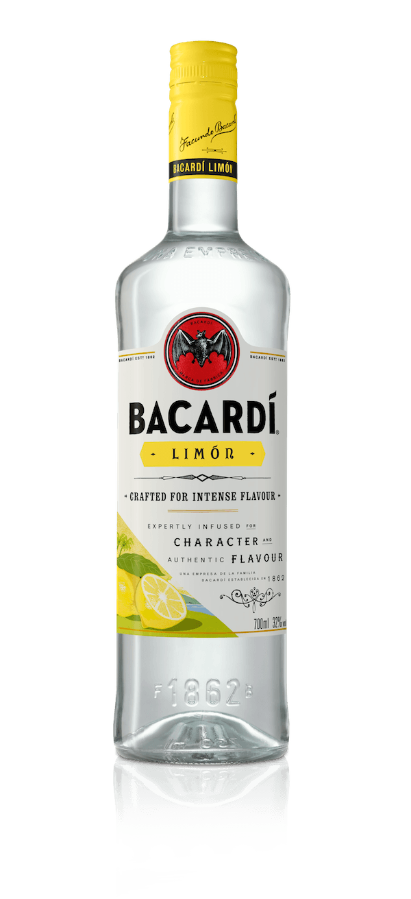 Bacardi Limón Flavoured Rum Is Carefully Crafted To Infuse Bacardi Rum With The Essence Of The Royal Family Of Citrus Fruits Lemon Lime And Grap Bacardi Limon
