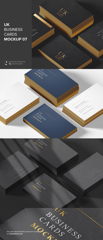 Uk Business Cards Mockup 07 For Branding Designs Business Card Mock Up Business Cards Business Card Size