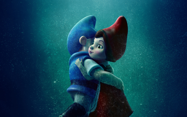 Download wallpapers Gnomeo and Juliet 2, 2018 movie, 3D