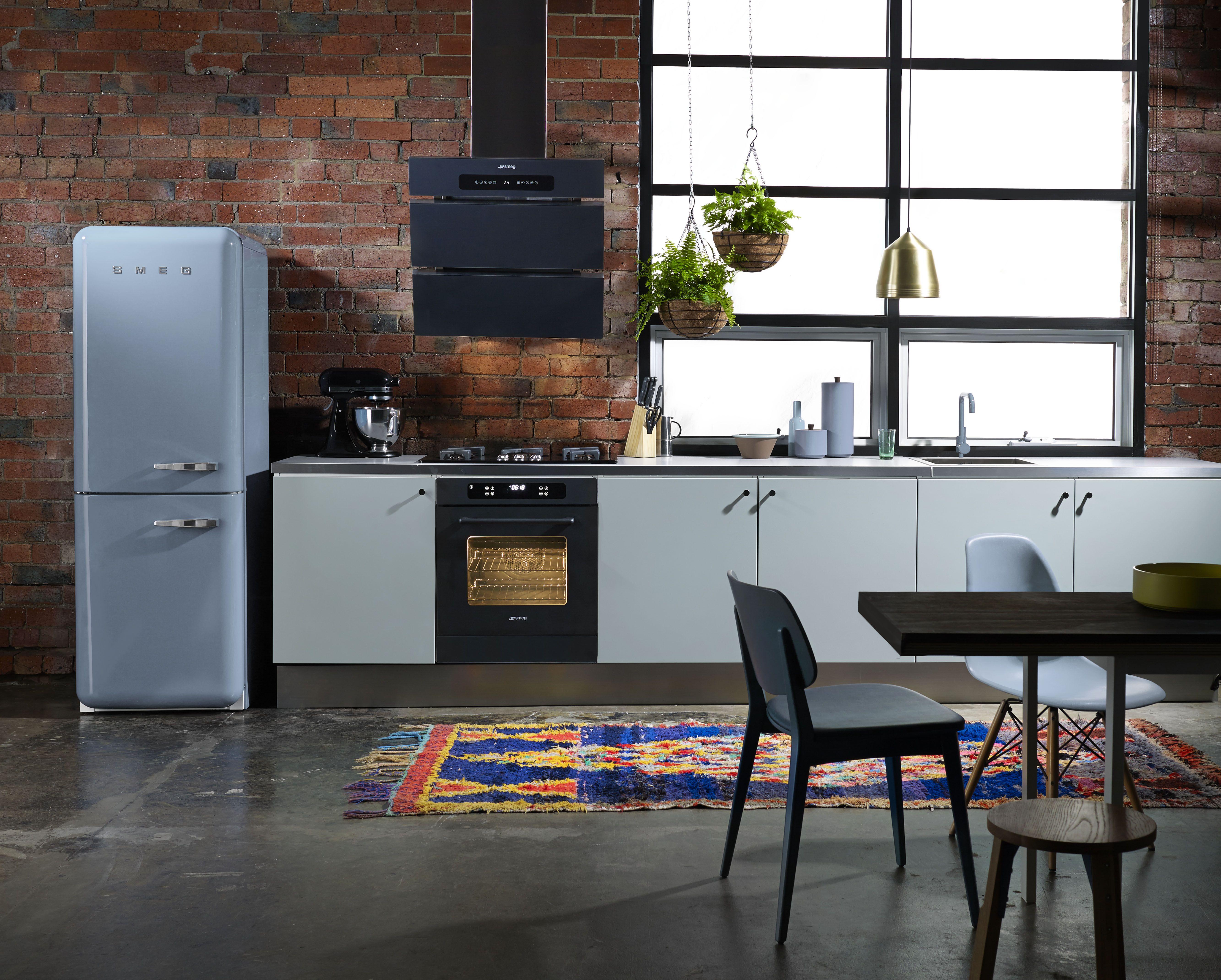 The FAB32RFA fridge-freezer shown here in pastel blue. It is ...