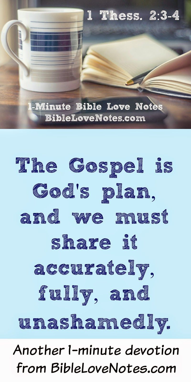 This 1 Minute Devotion Talks About Sharing The Gospel Without