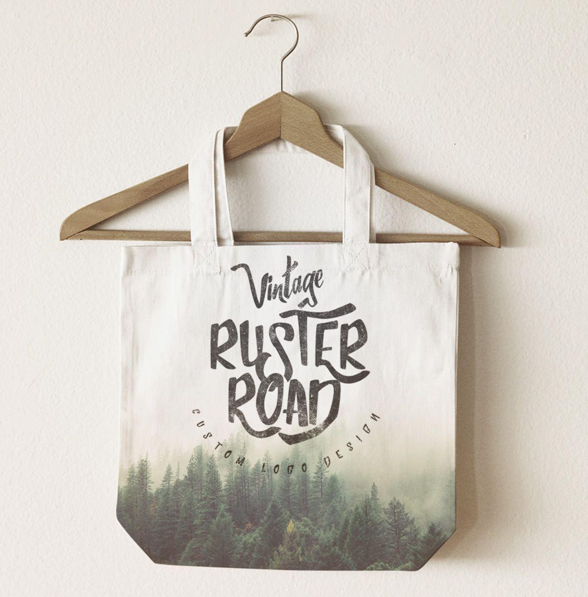 Download Free Font Download Bag Mockup Jute Tote Bags Shopping Bag Design