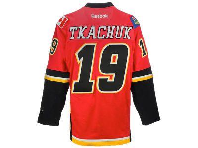 Calgary Flames Matthew Tkachuk Reebok NHL CN PT Premier Player Jersey 58018e3f9