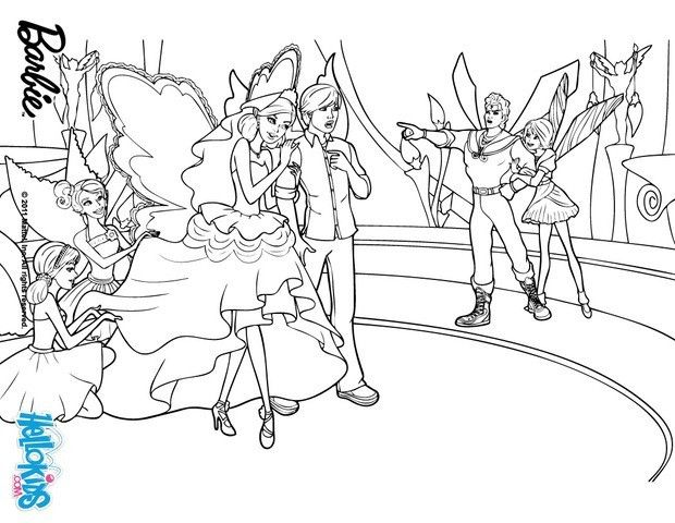 Fairies Fight Barbie Coloring Page More Barbie A Fairy Secret