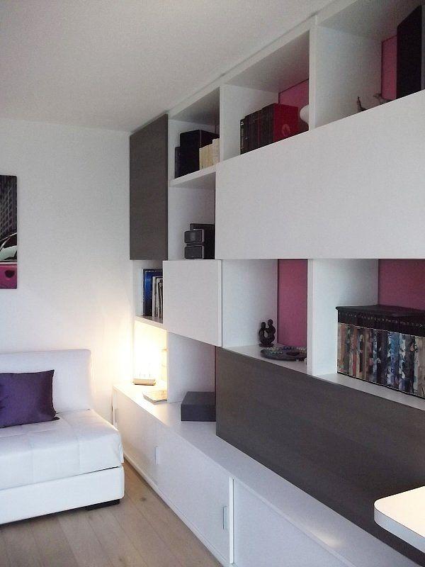 Bibliotheque De Salon Design #10: Bibliothèque Sur Mesure, Solution De Rangements, Finition Laque Blanche  Design By @tonylemale