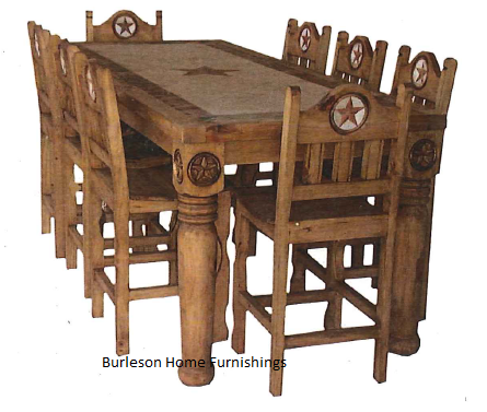 western kitchen table cost to remodel small rectangle rustic dining with marble inlay real wood cabin star free