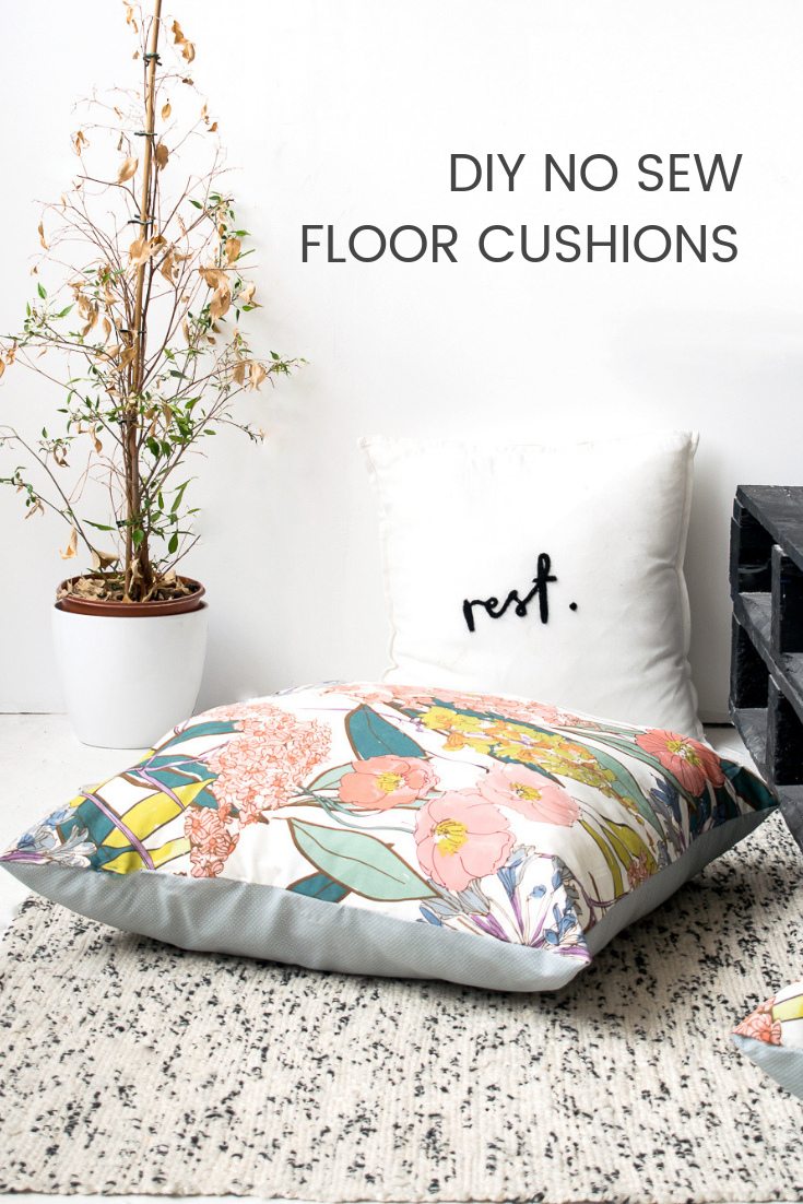 DIY No Sew Large Floor Cushions Large floor cushions