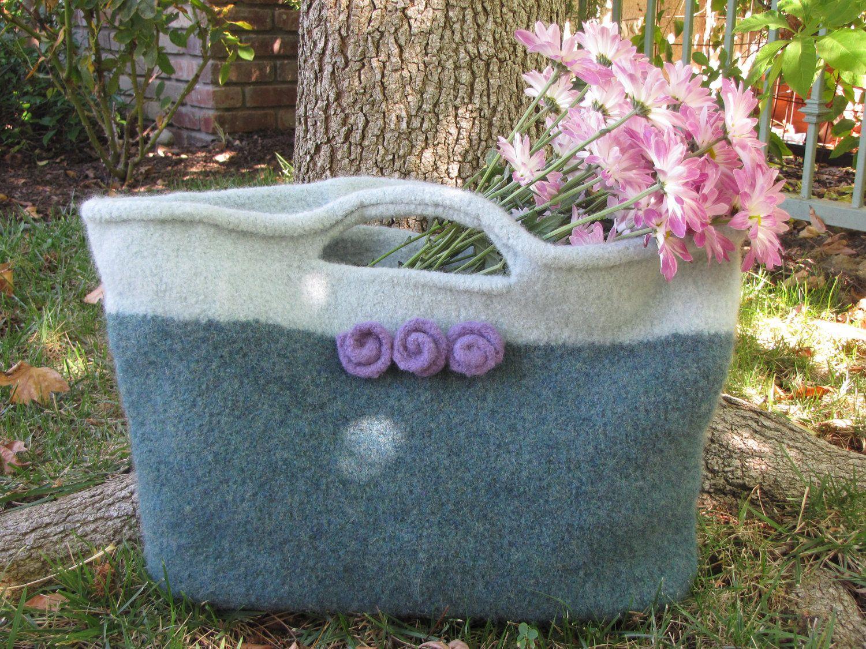 Felted Purse Pattern, Knit Bag Pattern, Knitted Purse, Knitting ...