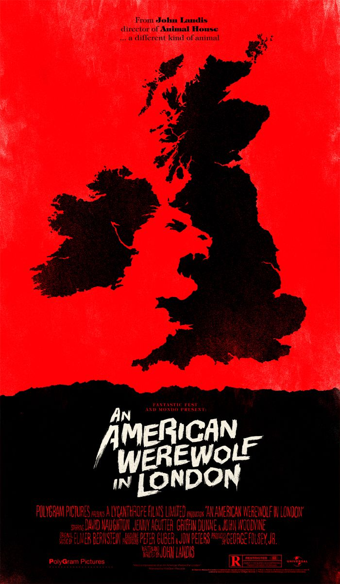 American Werewolf by Olly Moss