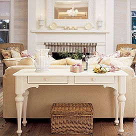 Westhampton Console Table In Antique White Accent Tables Chests Accent  Furniture Office Furniture PoshLiving   Stylehive