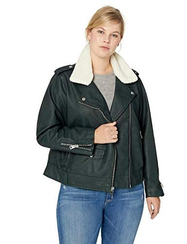 ea018d08530 New Levi s Women s Plus Size Faux Leather Sherpa Motorcycle Jacket. Women  Plus Size Coats Jackets