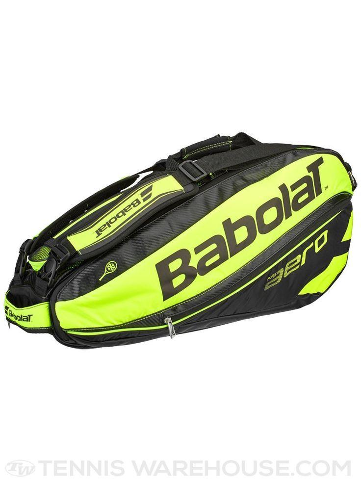 Babolat Pure Aero Black Lime 6 Pack Tennis Bag Racquet Bag Tennis Bags Bags