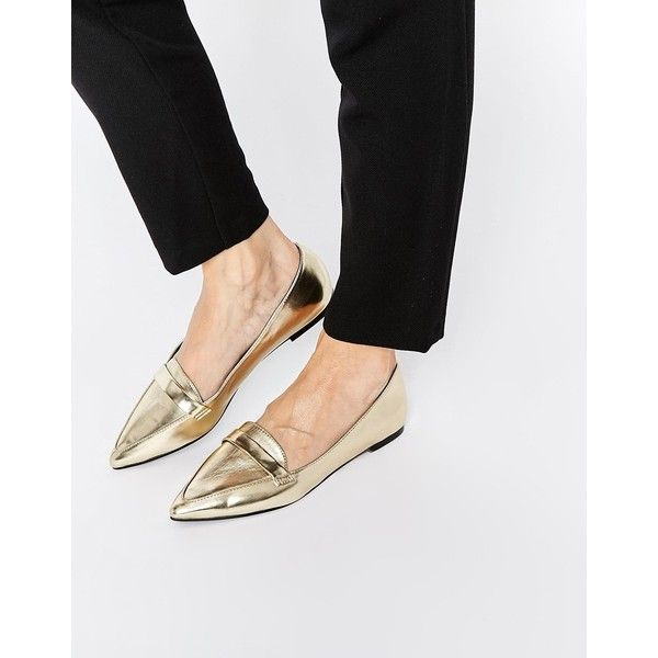ASOS LEIGH Pointed Ballet Flats  ? liked on Polyvore featuring shoes