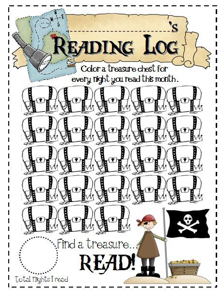 Treasure Chest Reading Log - Google Search | Story Telling