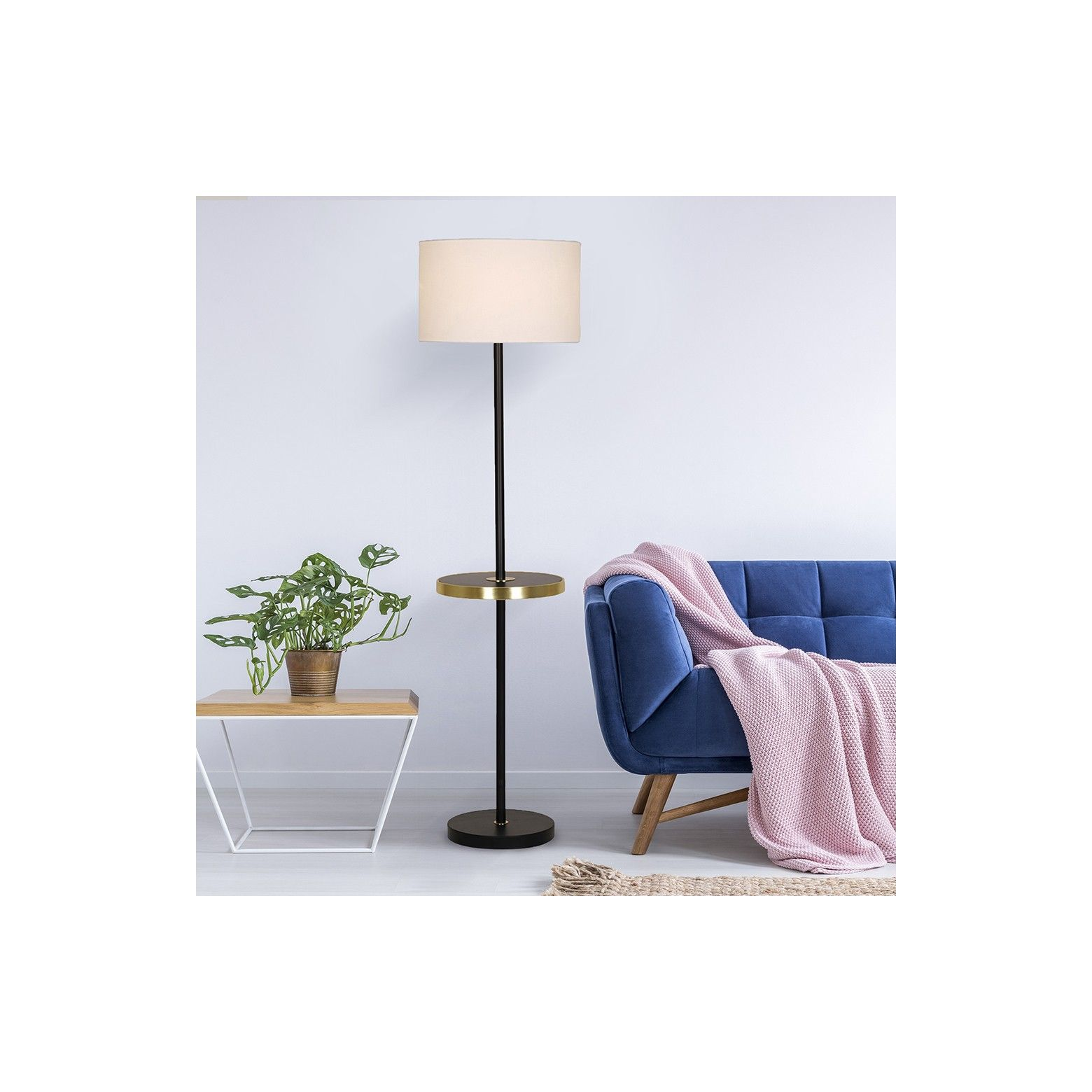This Shelf Stick LED Floor Lamp from Threshold™ has a