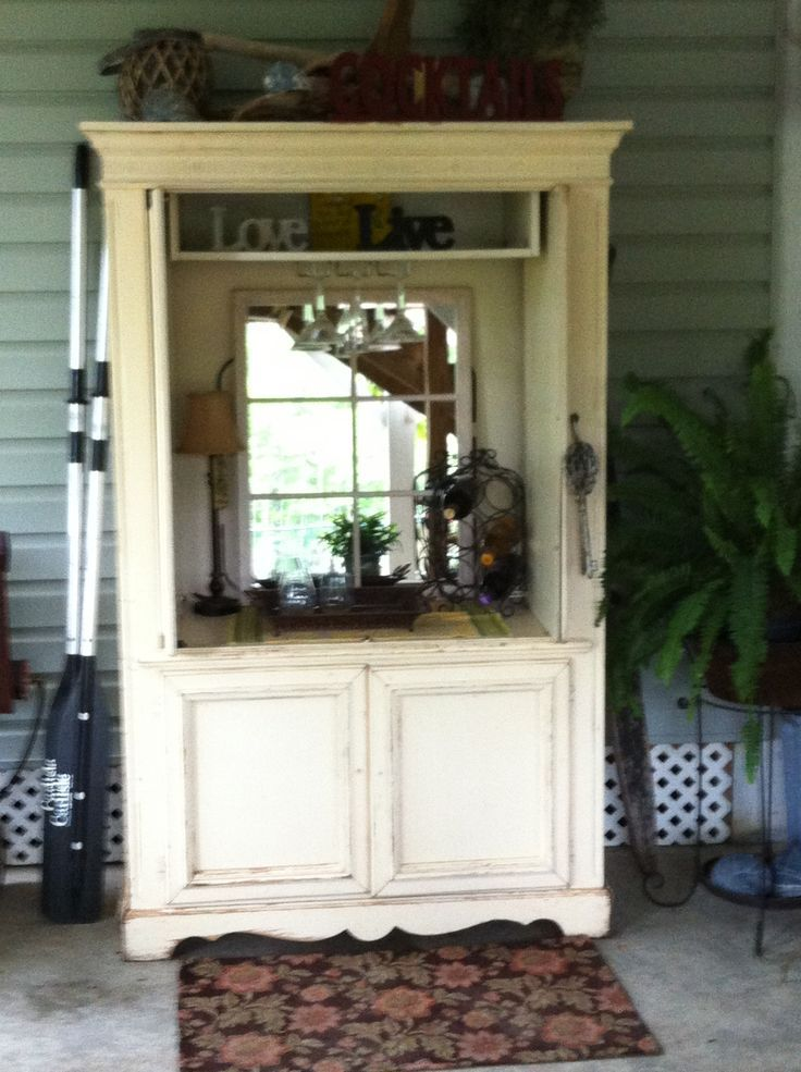 Beau Repurpose An Old TV Armoire Into A Beautiful Outdoor Piece! Perfect For A  Mini Bar!