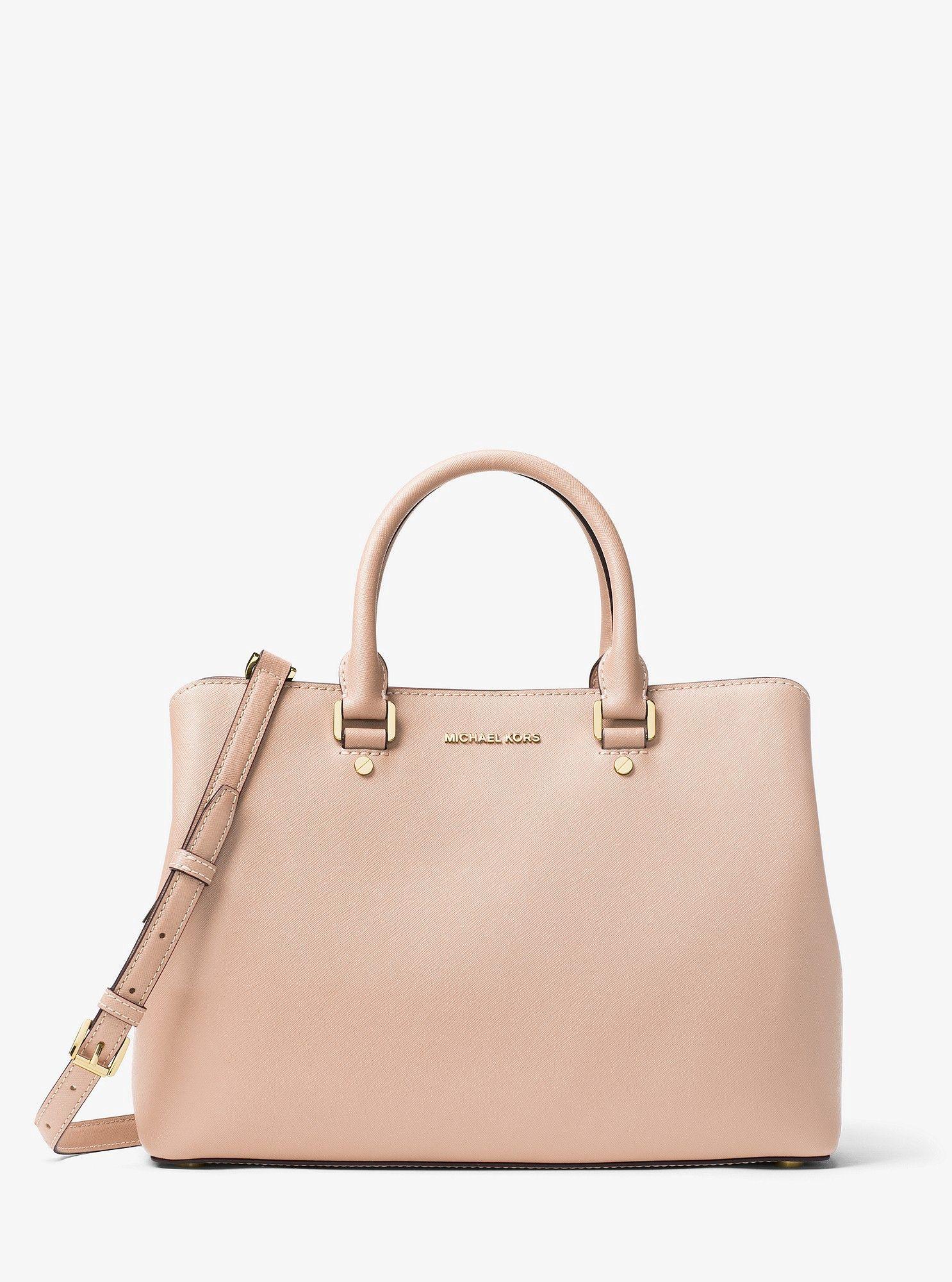9b912cd970e Michael Kors Savannah Large Saffiano Leather Satchel - Soft Pink ...