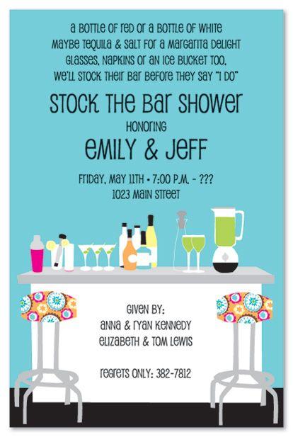Stock The Bar Shower Party Invitations Posh