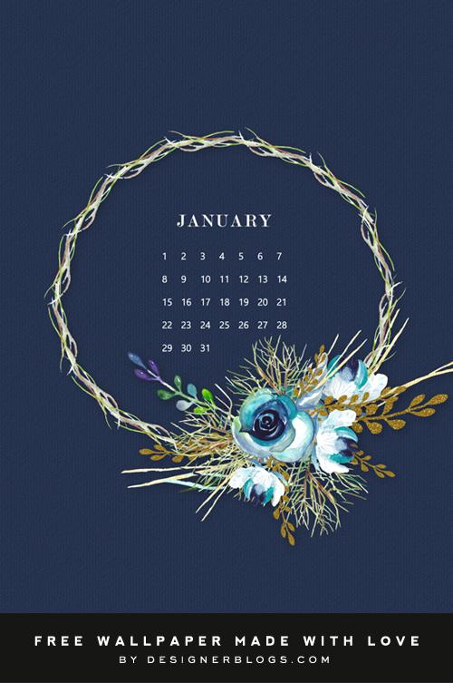 Free January Wallpaper - Designer Blogs