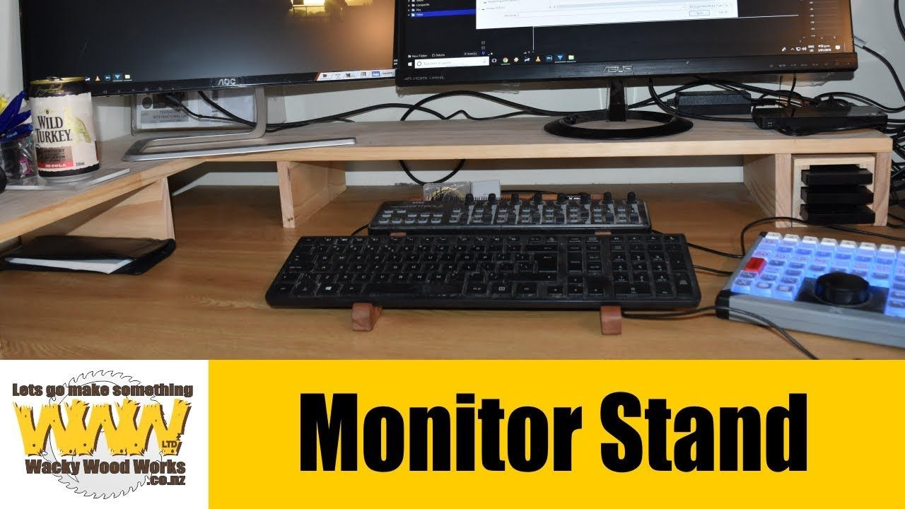 Monitor Stand & desk tidy - Off the Cuff - Wacky Wood Works.